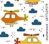 Helicopter Seamless Pattern...