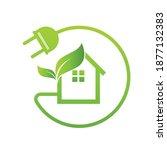 eco house green real estate... | Shutterstock .eps vector #1877132383