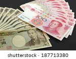 chinese and japanese currency...   Shutterstock . vector #187713380
