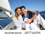 couple enjoying cruising on... | Shutterstock . vector #187716554