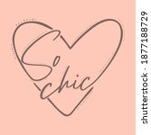 so chic heart abstract graphic... | Shutterstock .eps vector #1877188729