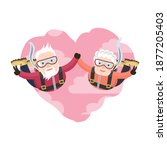 vector valentine card with cute ...   Shutterstock .eps vector #1877205403