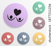 man holds many hearts badge...