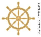 dharma wheel dharmachakra icon. ...   Shutterstock .eps vector #1877214193