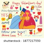 all you need is love. hands and ... | Shutterstock .eps vector #1877217550
