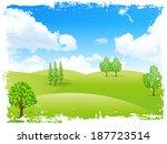 empty prairie landscape | Shutterstock .eps vector #187723514