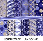 set of  abstract vector paper... | Shutterstock .eps vector #187729034