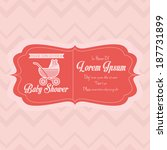 vector baby shower template... | Shutterstock .eps vector #187731899