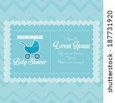 vector baby shower template... | Shutterstock .eps vector #187731920