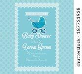 vector baby shower template... | Shutterstock .eps vector #187731938