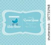 vector baby shower template... | Shutterstock .eps vector #187731968