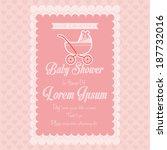 vector baby shower template... | Shutterstock .eps vector #187732016