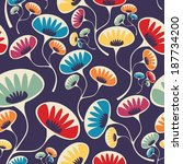 floral seamless pattern | Shutterstock .eps vector #187734200