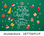 we wish you a merry christmas...   Shutterstock .eps vector #1877369119