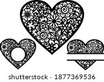 floral heart template for... | Shutterstock .eps vector #1877369536