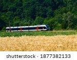 Regional Train In The Romantic...