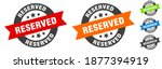 reserved stamp. reserved round... | Shutterstock .eps vector #1877394919