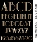 metallic gold font   Shutterstock .eps vector #187741688