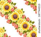 abstract elegance seamless... | Shutterstock . vector #187744313