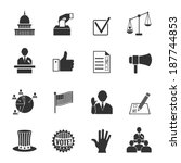 elections and voting icons set... | Shutterstock .eps vector #187744853