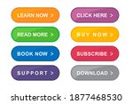 colorful web buttons set vector | Shutterstock .eps vector #1877468530