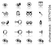 optometry icons | Shutterstock .eps vector #187747106