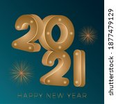 happy new year 2021 card....   Shutterstock .eps vector #1877479129