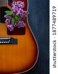 Acoustic Guitar And Lilac...