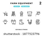 farm equipment outline icons...
