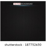 silver metallic grid background.... | Shutterstock .eps vector #187752650