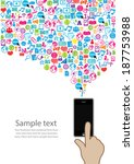 template design phone idea with ... | Shutterstock .eps vector #187753988