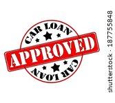 car loan approved stamp  label  ... | Shutterstock .eps vector #187755848