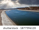 view of the california aqueduct ...   Shutterstock . vector #1877596120