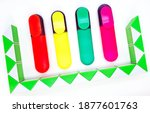 colored markers markers on a... | Shutterstock . vector #1877601763