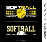 collection of two softball... | Shutterstock .eps vector #1877642293