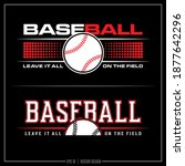 collection of two baseball...   Shutterstock .eps vector #1877642296