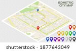 city map. isometric view....   Shutterstock .eps vector #1877643049