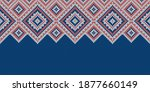 knitwear texture. template with ... | Shutterstock .eps vector #1877660149