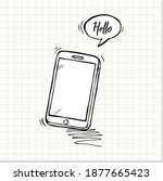 hand drawn of smart phone ....   Shutterstock .eps vector #1877665423