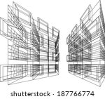 abstract linear architecture... | Shutterstock .eps vector #187766774