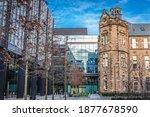 Small photo of Edinburgh, Scotland - January 15, 2020: Buildings in Quartermile area, former Royal Infirmary in Edinburgh city