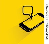 smart phone and pop up message... | Shutterstock .eps vector #187767950