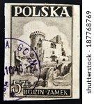 poland   circa 1946  a stamp... | Shutterstock . vector #187768769