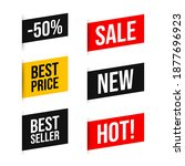 set discount label with... | Shutterstock .eps vector #1877696923