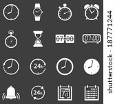 vector set of 16 white time...