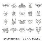 outline icon set of mystic... | Shutterstock .eps vector #1877750653