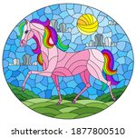 illustration in stained glass... | Shutterstock .eps vector #1877800510