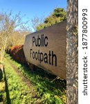 A Wooden Public Footpath...