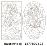 set of contour illustrations in ... | Shutterstock .eps vector #1877801623