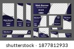 set of abstract web banners... | Shutterstock .eps vector #1877812933